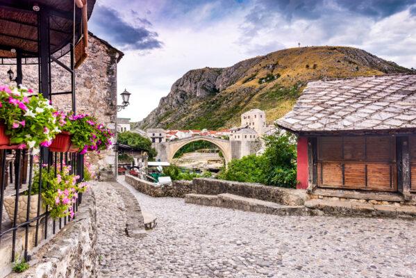 Bosnien Mostar Alte Brücke