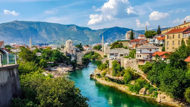 Bosnien Mostar Blick