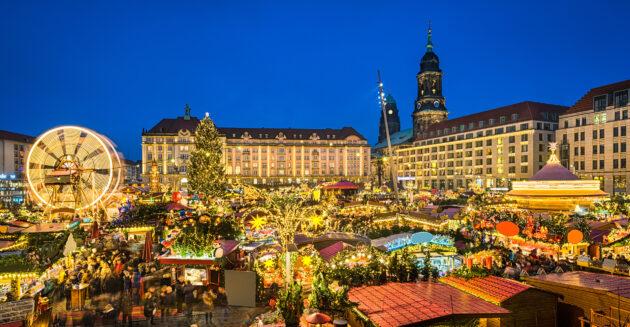Dresden Weihnachtsmarkt Beleuchtung