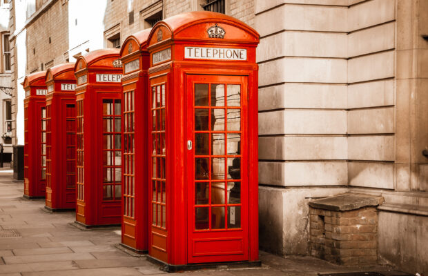 england london phone boxes