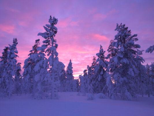 finnland lapland landschaft sunset