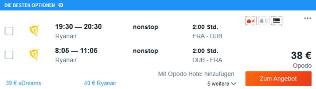 Flug Frankfurt Dublin