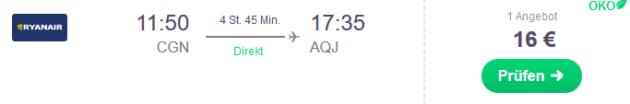 Flug Köln Aqaba