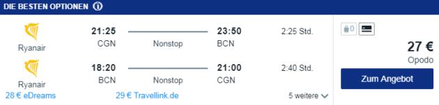 Flug Köln Barcelona