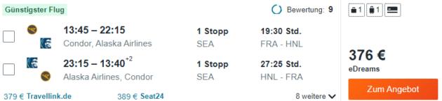 Frankfurt nach Honolulu