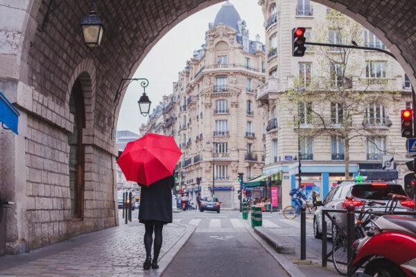 Frankreich Paris Herbst Spaziergang