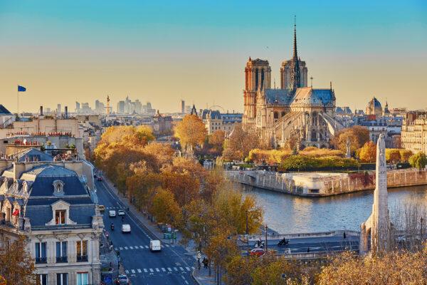 Frankreich Paris Herbstlich
