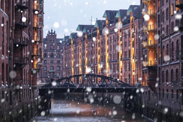 Hamburg Speicherstadt Winter Schnee