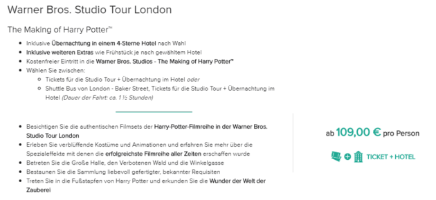 Harry Potter Tour London 3 Hotel Flug Ab 179 Urlaubstrackerde