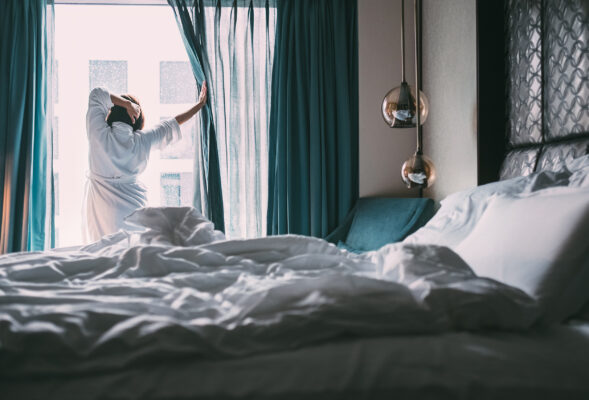 Hotelzimme Frau