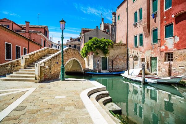 Italien Venedig Brücke Kanal