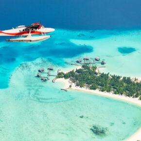 Malediven Insel Flugzeug
