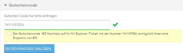 NY Pass Gutschein