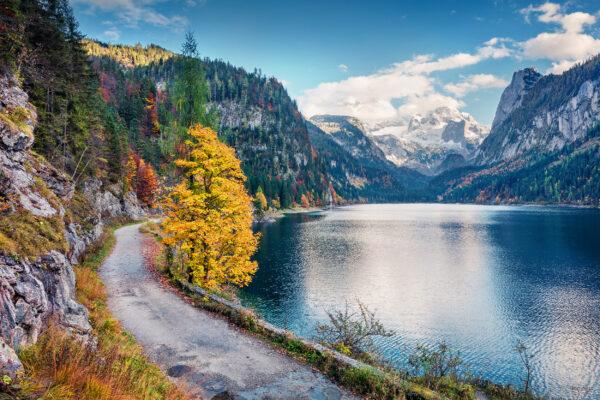 Österreich Gosausee Herbst