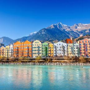 Österreich Innsbruck Flussufer
