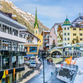 Österreich Ischgl Stadtzentrum