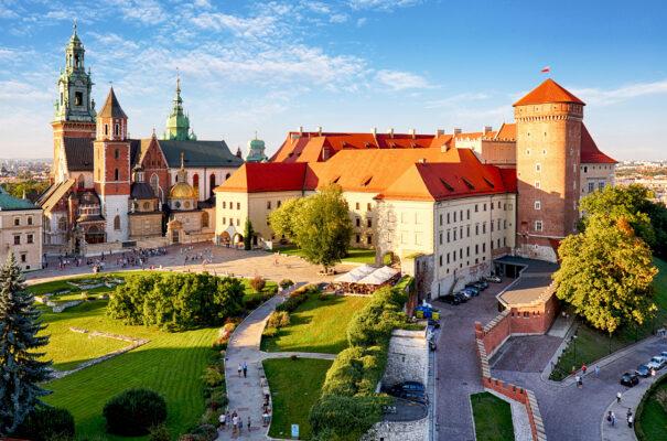 Polen Krakau Burg Wawel