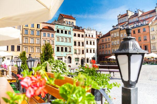 Polen Warschau Altstadt Marktplatz