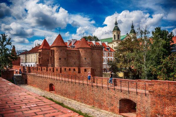 Polen Warschau Barbacan
