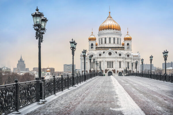Russland Moskau Winter Kathedrale