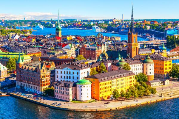 Schweden STockholm Gamla Stan Pier