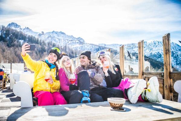 Ski Freunde Selfie