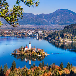Slowenien Bled Lake Insel