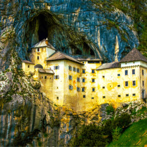 Slowenien Predjama Schloss