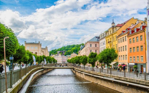 Tschechien Karlsbad Fluss