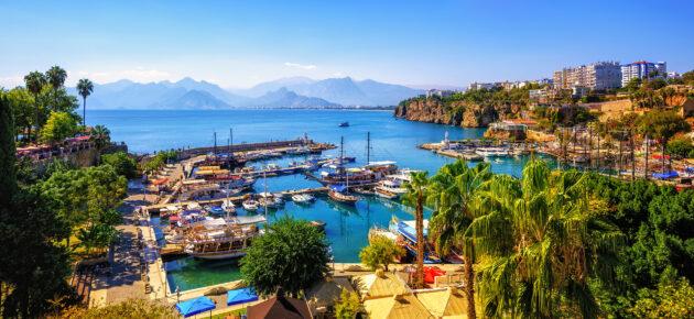 Türkei Antalya Hafen Altstadt