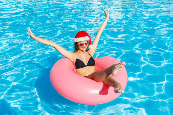 Weihnachten Frau Pool