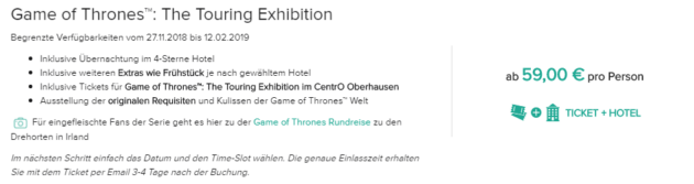 2 Tage Game of Thrones
