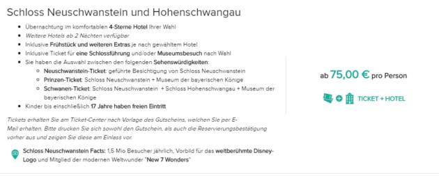 2 Tage Schloss Neuschwanstein
