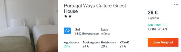 3 Tage Lissabon Hotel