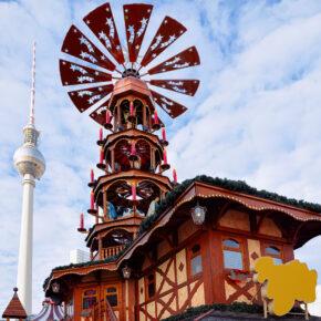 Berlin Weihnachtsmarkt Alex Pyramide