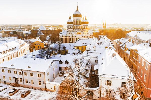 Estland Tallinn Weihnacht Ausblick