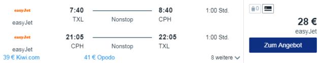 Flug Berlin Kopenhagen