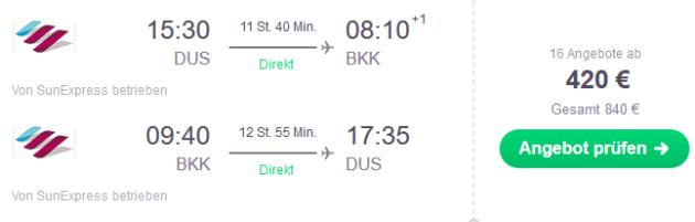 Flug Düsseldorf Bangkok