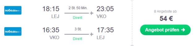 Flug Leipzig Moskau