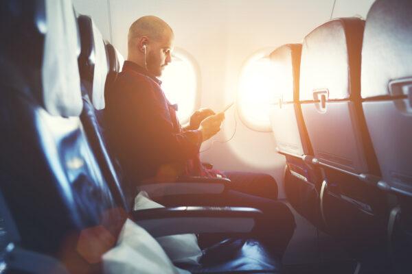 Flugzeug Mann Sitze