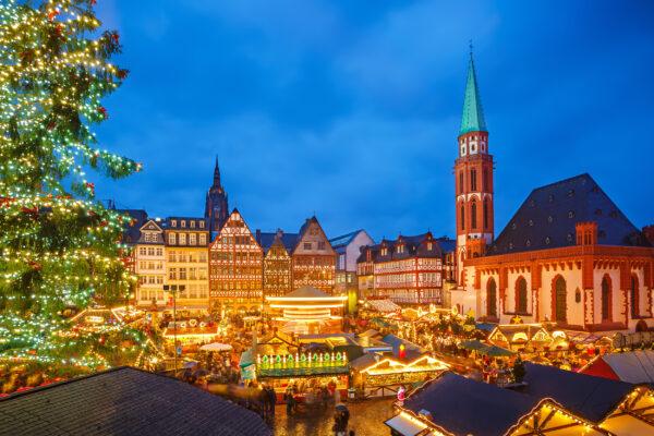 Frankfurt Weihnachtsmarkt Staende