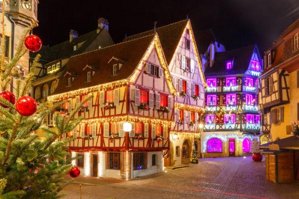 Frankreich Colmas Altstadt Weihnacht