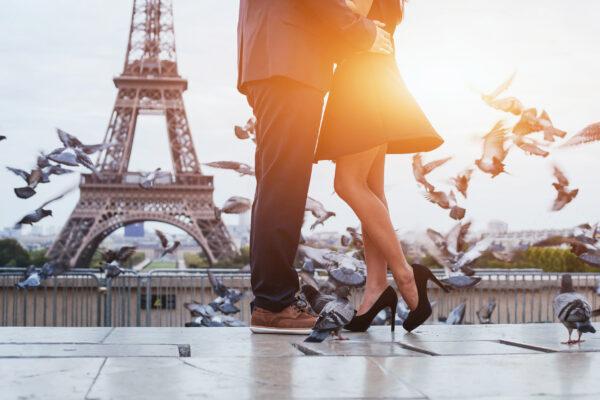 Frankreich Paris Eiffelturm Paar