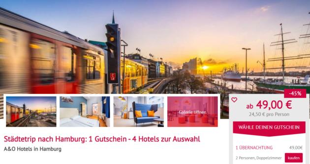 Hamburg Hotelgutschein