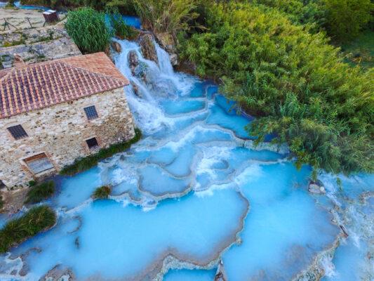 Italien Toskana Thermalbecken