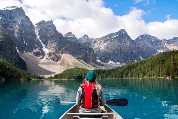 Kanadas Nationalparks: Moraine Lake See Berge