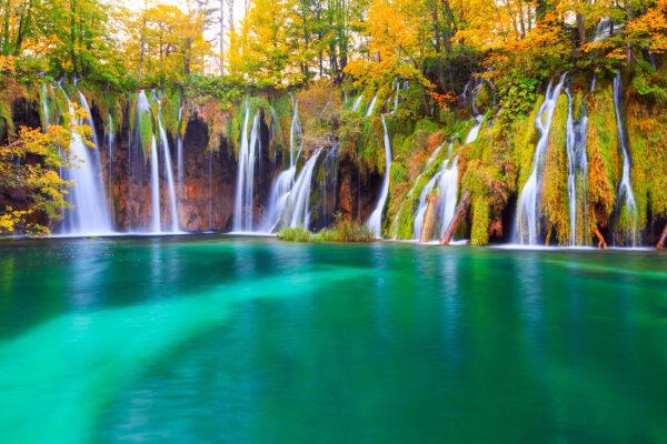 Kroatien Park See Wasserfall