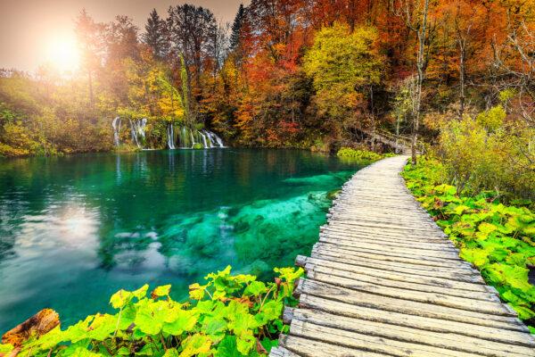 Kroatien Weg See