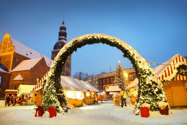 Lettland Riga Weihnachtsmarkt