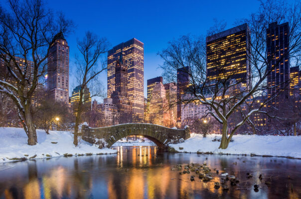 New York Winter Schnee